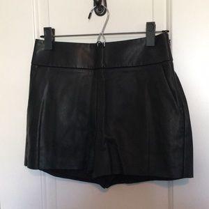 Express Black Leather Shorts